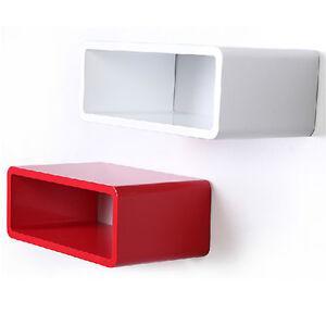 Black White Red Orange Cube Skybox Floating Wall Shelving Storage Wifi Box New Ebay