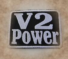 V2 Power,Patch,Aufnäher,Aufbügler,Badge,Biker,Harley,Honda,Suzuki