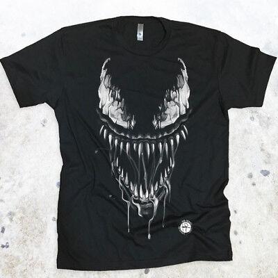 Venom Tshirt Cracked Eyes Men's T-shirt Marvel Spiderman Tank Top Gym Work Out
