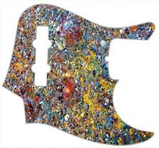 J Bass Pickguard Custom Fender Graphic Graphical Guitar Pick Guard Rusted Metal