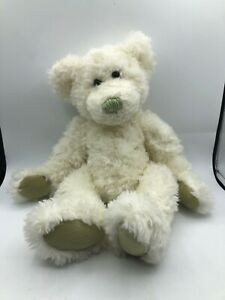 Russ-Berrie-Contessa-White-Jointed-Teddy-Bear-Plush-Kids-Stuffed-Toy-Animal-Doll