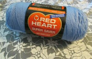 NEW-RED-HEART-SUPER-SAVER-Periwinkle-Blue-Yarn-225-g-Acrylic-USA-300-347-91976