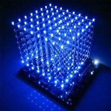 1PCS 3D Light Squared DIY Kit 8x8x8 3mm LED Cube Blue Ray LED NEW