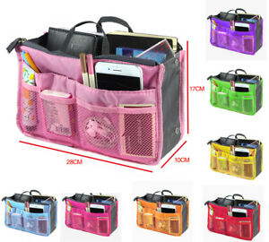 8340cda03233 Details about Women Lady Travel Makeup Insert Handbag Organiser Purse Large  Organizer Tidy Bag