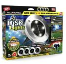 4-Pk Bell + Howell Disk LED Lights