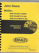 John Deere 4050 4250 4450 Tractor Operators Owners Manual Omrw21230