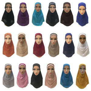 One-Piece-Muslim-Women-Amira-Hijab-Scarf-Headscarf-Wrap-Cover-Islamic-Shawl