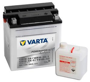 VARTA 12V 11Ah YB10L-A2 Motorradbatterie 12 Volt Powersports OVP NEU Batterie