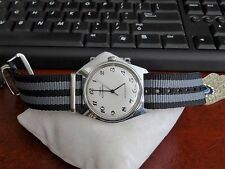 Vintage 1978 Timex Automatic Water Resistant Mens Watch w/ 20mm Nylon Band!