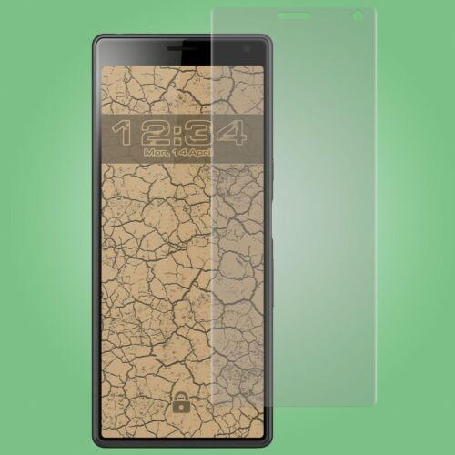 4x película protectora curved claro-Sony Xperia 10 protector de pantalla FullScreen cover diapositiva