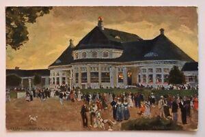 Ganzsache-Ausstellung-Muenchen-1908-Hauptrestaurant-gelaufen-Muenchen