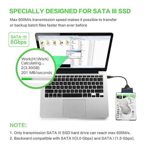 22 Pin SATA3 To USB 3.0 2.5 Inch Hard Drive HDD SSD Adapter SATA Converter Cable