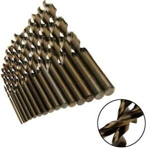 15x rápido trabajo acero HSS co 5% m35 kobaltbohrer Steel pounch 10mm set z0o2