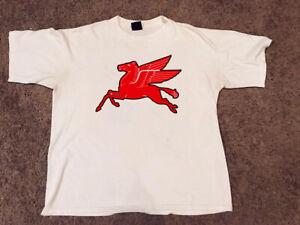 Graphic Cotton T Shirt Short /& Long Sleeve Mobiloil Pegasus