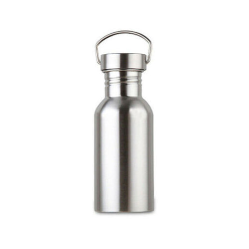 Outdoor Water Bottle Travel Stainless Steel Traveling Cycling Portable