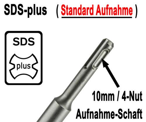 5 Stück SDS-plus Betonbohrer 8 x 110 mm Quadro Bohrer Hammerbohrer Steinbohrer