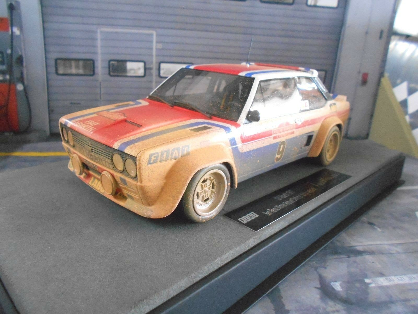 Fiat 131 Abarth Rallye San Remo 1977 Winner  9 Andruet Dirty V Top Marques 1 18