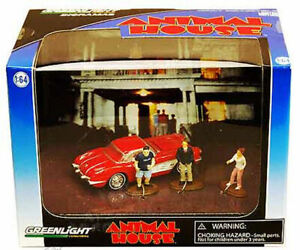 GREENLIGHT-1-64-CHEVROLET-CORVETTE-1958-ANIMAL-HOUSE-WITH-FIGURES