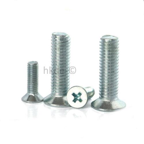 Senkkopfchrauben mit Kreuzschlitz Senkkopf//Flachkopf Stahl Verzinkt DIN 965 M5