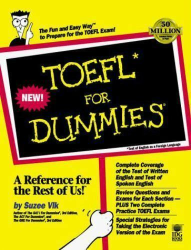 TOEFL for Dummies by Suzee Vlk