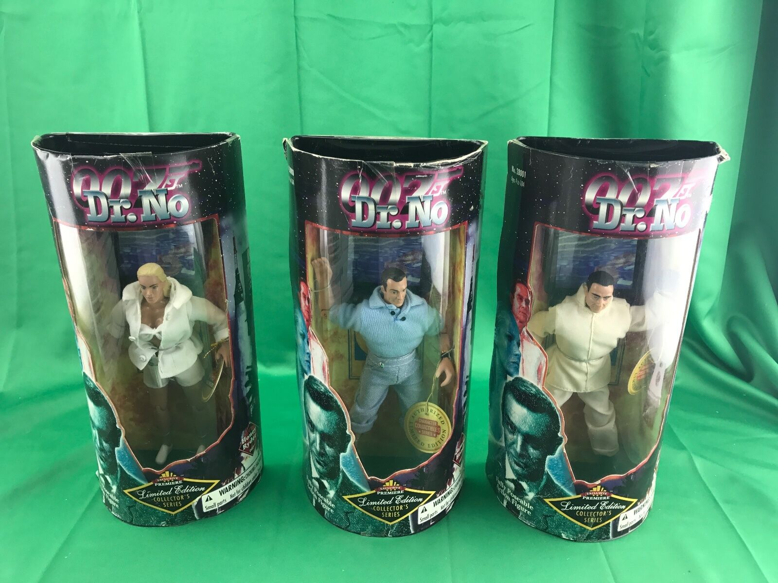 LOT OF OF OF 3 007 DR NO DOLLS LIMITED EDITION COLLECTORS SERIES (BOXES HAS SOME WEAR) 630677