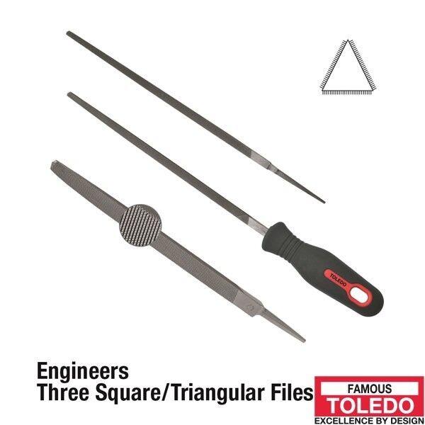 TOLEDO Three Square File Smooth - 100mm 12 Pk 04TSQ03BU x12