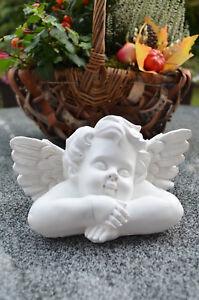 Grabengel Engel Schutzengel Grabschmuck Deko Engelfigur Trauerengel weiß