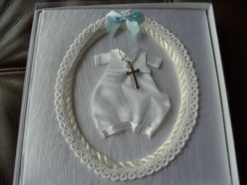 Photo Album Baby Christening Gift Girl OR Boy with silver cross