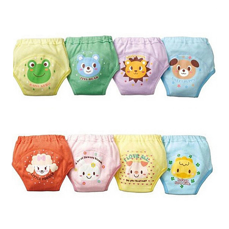 4x Baby Toddler Girls Boy Cute 4 Layers Waterproof Potty Training Pants Random. 3
