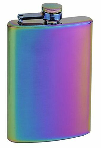 "Top Shelf Flasks Rainbow Colored /""Unicorn/"" Hip Flask"
