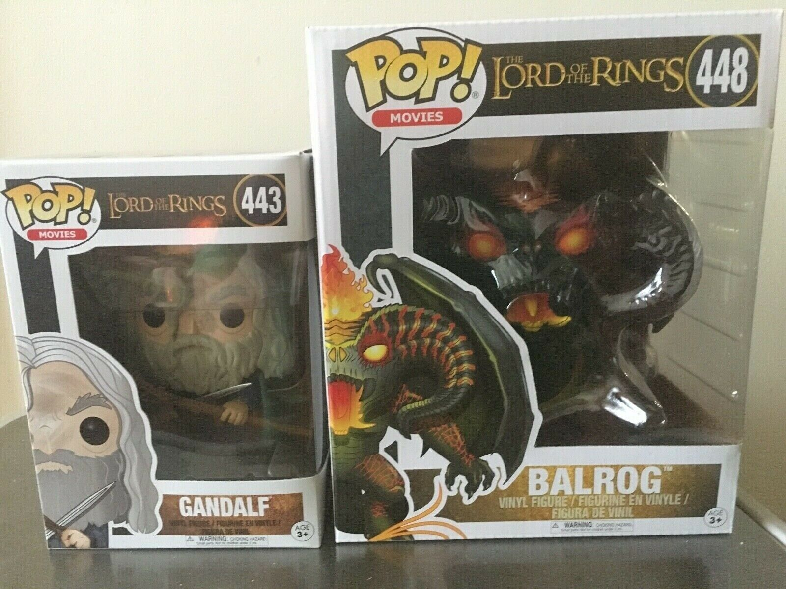 GANDALF + BALROG  funko POP figures bundle