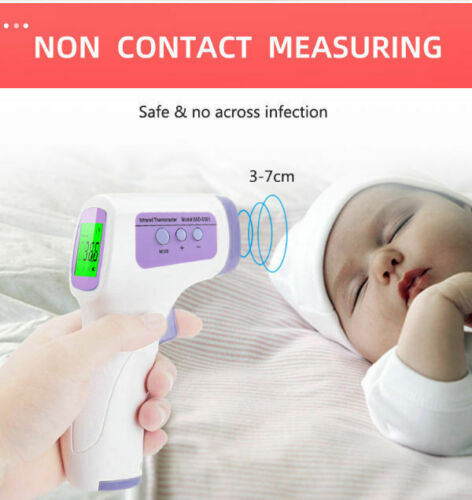 US Fast Shiping Touchless Digital Infrared Forehead Thermometer with LCD Display