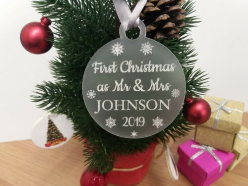 Newlywed Christmas 2019 First Christmas as Mr and Mrs Bauble