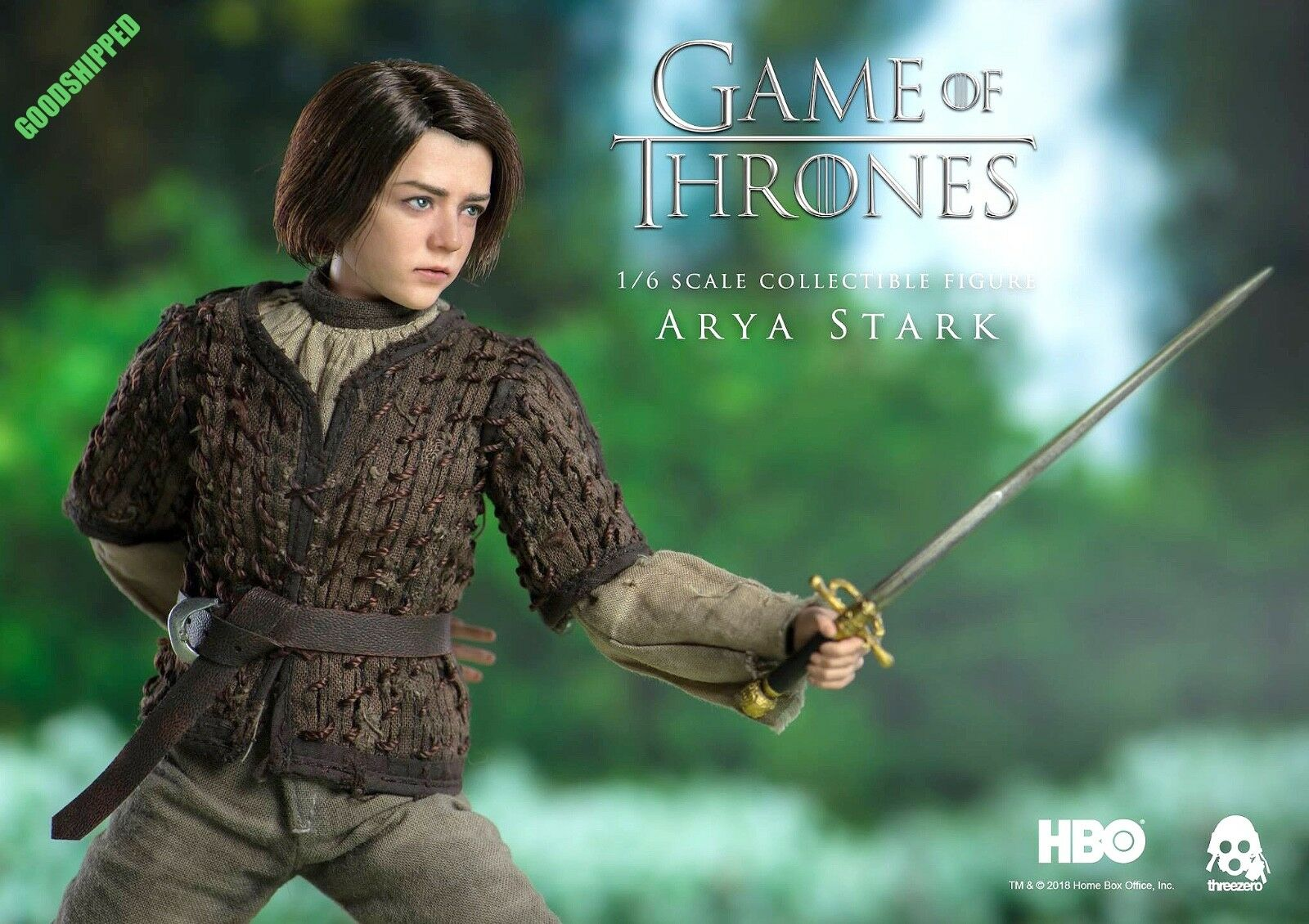 READY THREEZERO HBO GAME OF THRONES LADY ARYA STARK MAISIE WILLIAMS 1 6 NEW