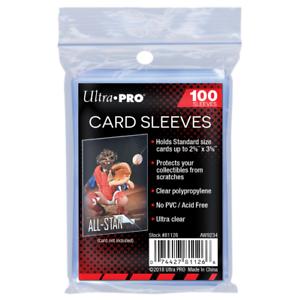 100-Ultra-Pro-Soft-Trading-Card-Sleeves-Zip-Lock-Pack-Acid-Free-No-PVC