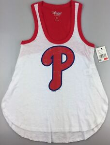 Philadelphia-Phillies-G-III-4Her-by-Carl-Banks-Women-039-s-Game-Time-Tank-Top-White