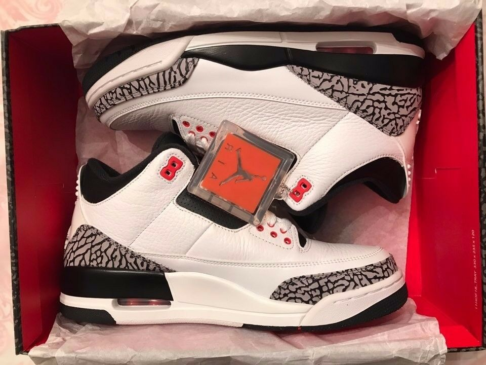Air jordan 3 retro infrared 23 size 9