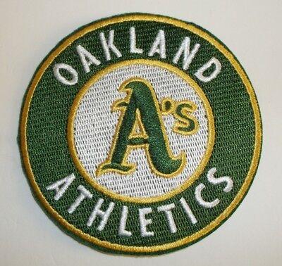Weitere Ballsportarten Gutherzig Oakland Athletics A's Bestickter Patch ~8.9cm Rundes~ Iron Sew On ~ Mlb ~ Rheuma Und ErkäLtung Lindern