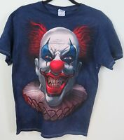Blue Short Sleeve T Shirt Scary Evil Zombie Clown Pennywise Size L
