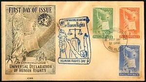 Philippine-1951-Universal-Declaration-of-Human-Rights-FDC-A