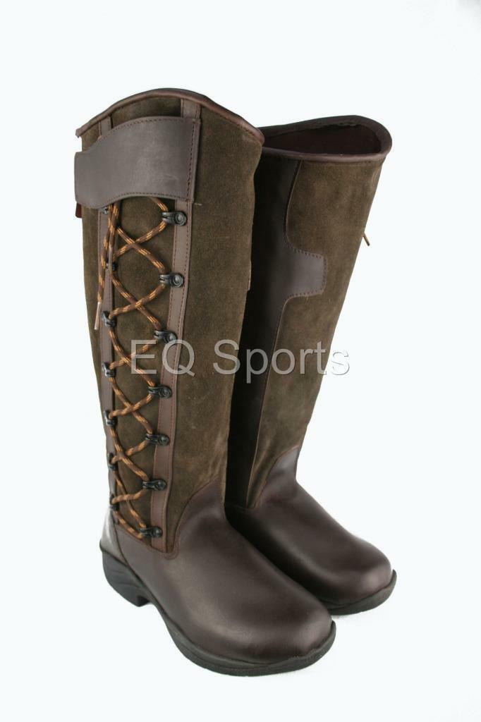 ROTUCED MUST GO   Arizona Leder Long lace Riding Stiefel lace Long detail Blk&Brn 3-9 d158f2