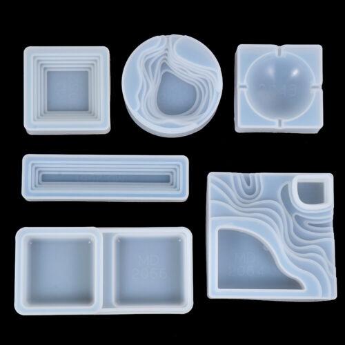 Home Decor Hand Making Silicone Ashtray Mould Resin Mold Ashtray Mold Crystal