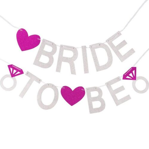 FASHION BRIDE TO BE BRIDAL SHOWER GLITTER BANNER BUNTING HEN NIGHT PARTY Pro Hot