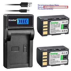 Kastar-Battery-LCD-Charger-for-JVC-BN-VF815U-amp-GZ-MG130EX-GZ-MG130U-GZ-MG130US