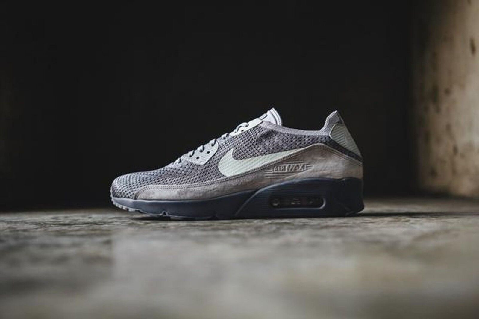 Nike Air Max 90 Ultra 2.0 Flyknit Atmosphere Gris / LightBone 875943 007 Pour Homme 9