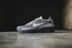 Details about Nike Air Max 90 Ultra 2.0 Flyknit Atmosphere GreyLightBone 875943 007 Mens Sz 9