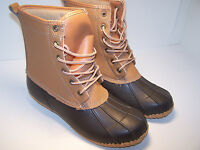 Totes Prep Brown Boots Men's Rain Boots Waterproof Leather Size 8 M