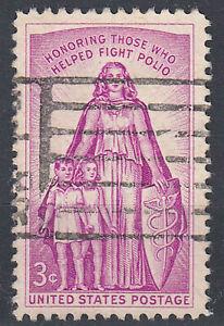 Estados unidos sello con sello 3c Honoring those who helped Fighting polio/3088