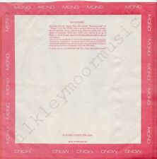 """Vintage INNER SLEEVE or SLEEVES 12"""" BORDER red pink MONO poly-lined no-cut x 1"""