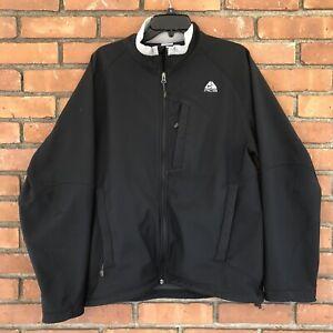 11e81dc27d00d Details about Vintage NIKE ACG Full Zip Jacket Fleece Lining Black Large  Soft Shell Mens